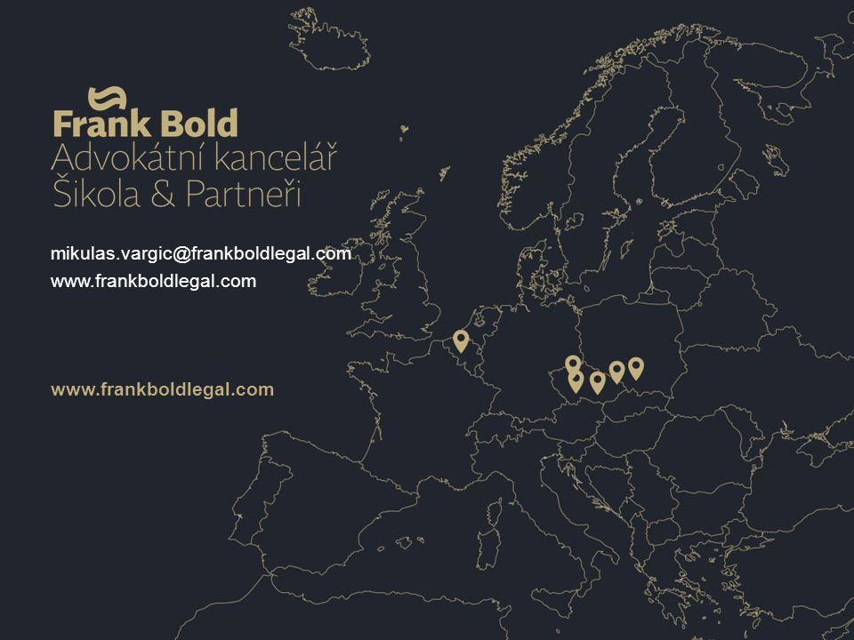 www.frankboldlegal.com mikulas.vargic@frankboldlegal.com www.frankboldlegal.com