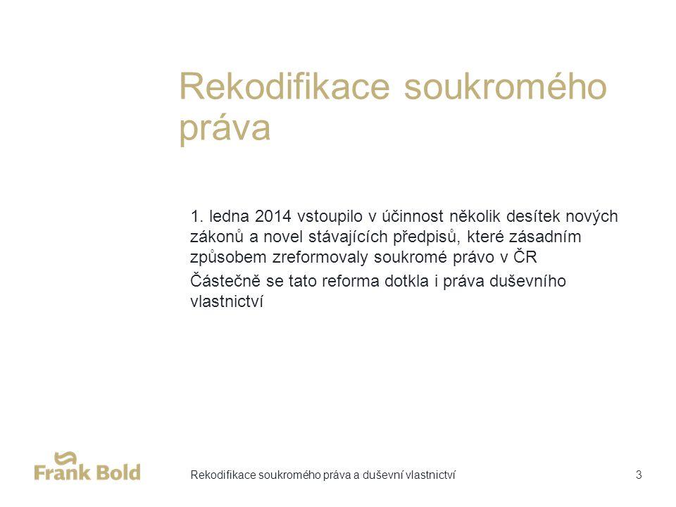 Rekodifikace soukromého práva 1.