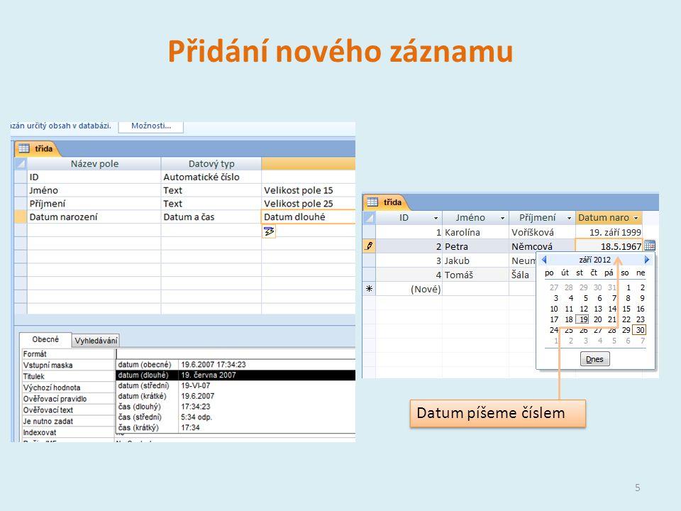 Řazení a filtrování dat Každá tabulka má rozevírací nabídku, která umožňuje data řadit a filtrovat Řazení dat Filtrování dat – vybíraní dat, která splňují nějaká kritéria 6