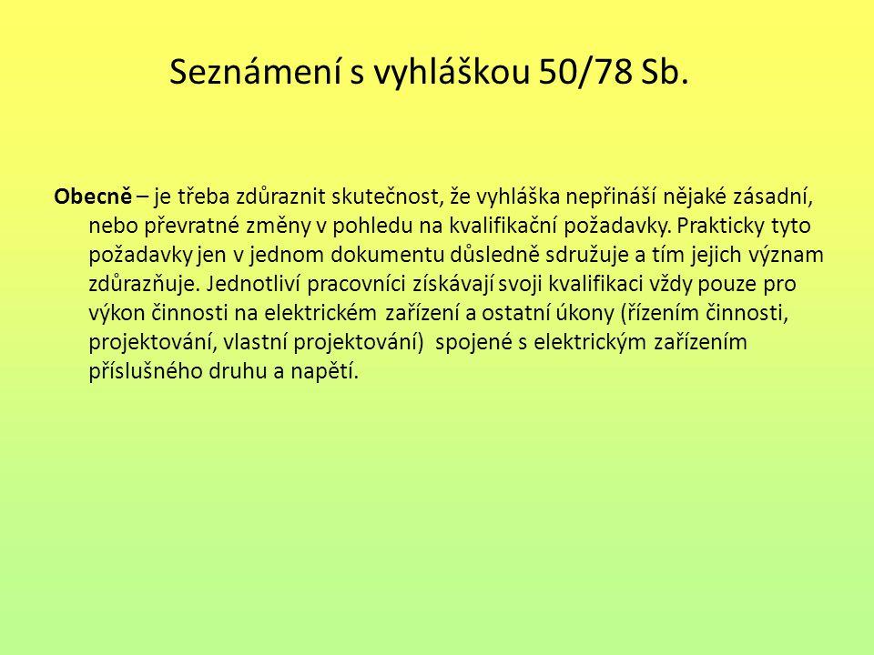 Seznam použité literatury: [1] PAUL, Miroslav.Texty ke zkoušce dle vyhlášky 50/78 Sb.