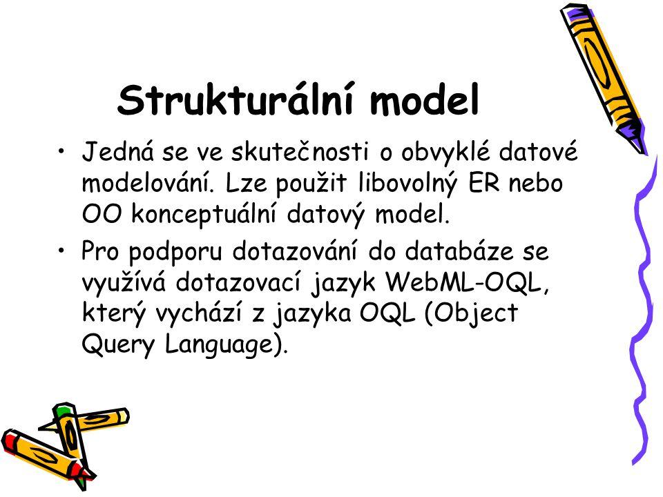 Strukturální model Jedná se ve skutečnosti o obvyklé datové modelování.