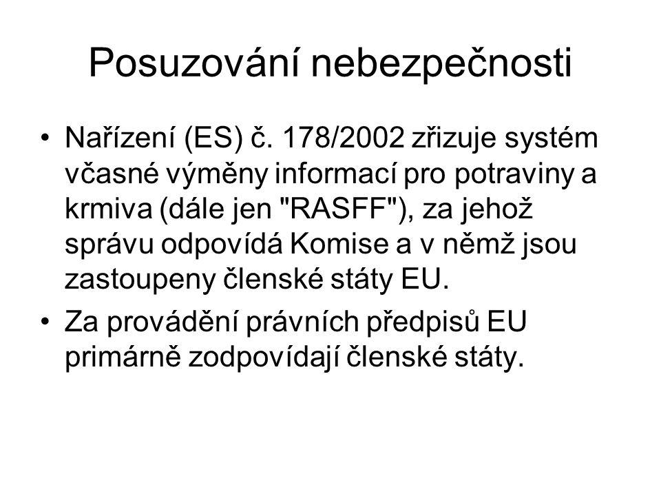 Posuzování nebezpečnosti Nařízení (ES) č.