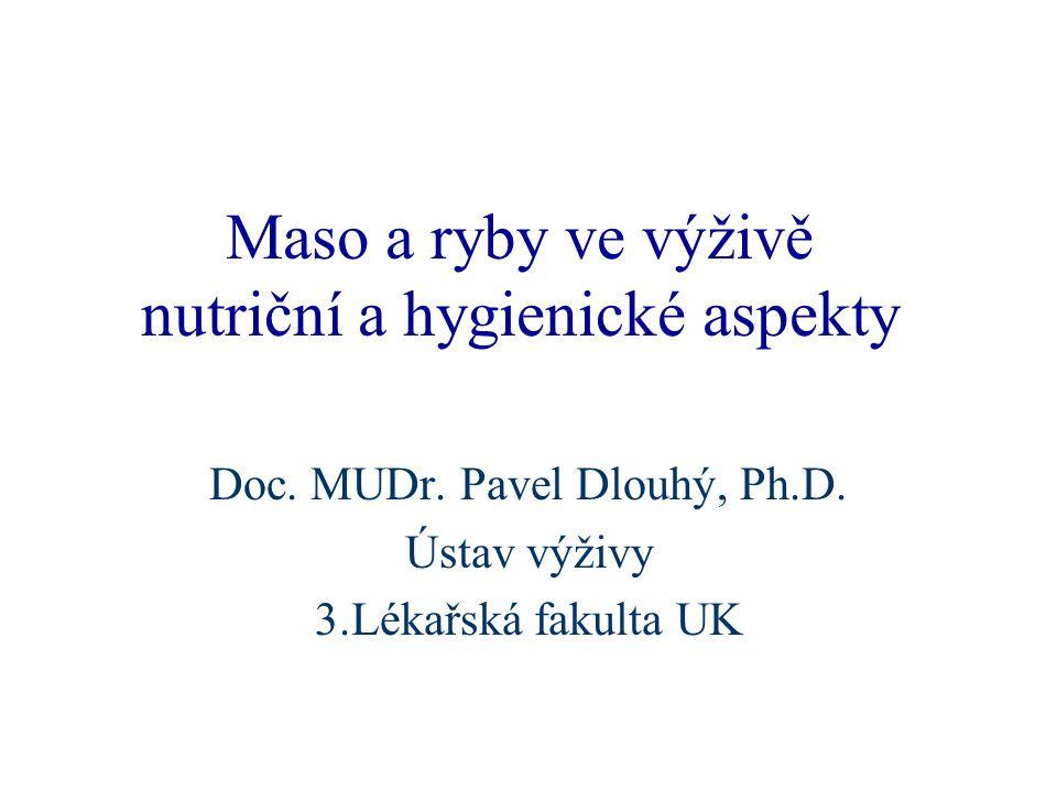 Maso a ryby ve výživě nutriční a hygienické aspekty Doc.