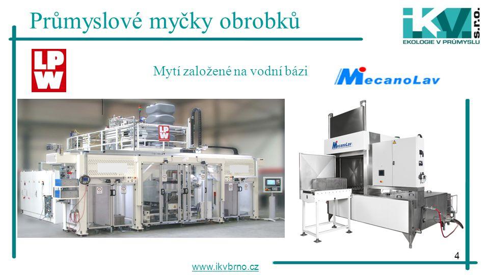 4 Průmyslové myčky obrobků www.ikvbrno.cz Mytí založené na vodní bázi