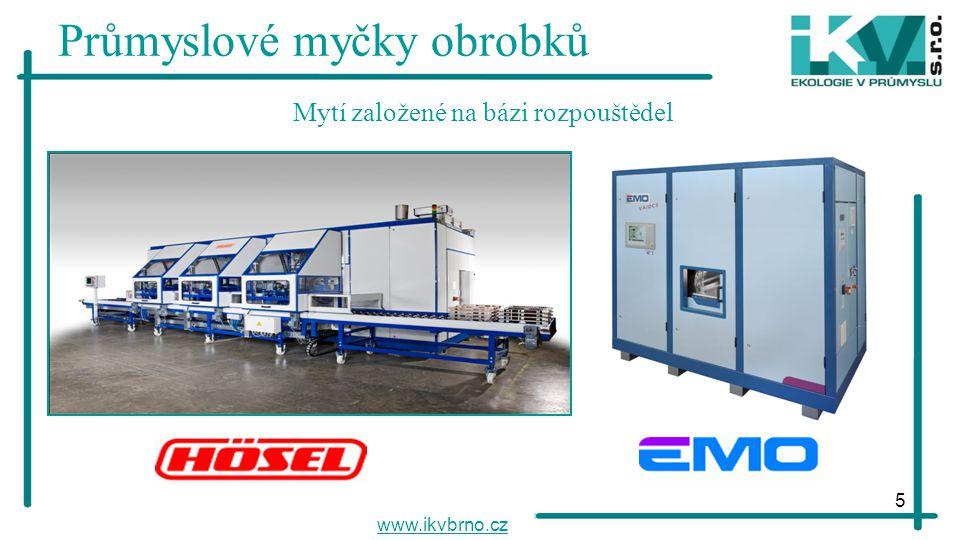 5 Průmyslové myčky obrobků www.ikvbrno.cz Mytí založené na bázi rozpouštědel