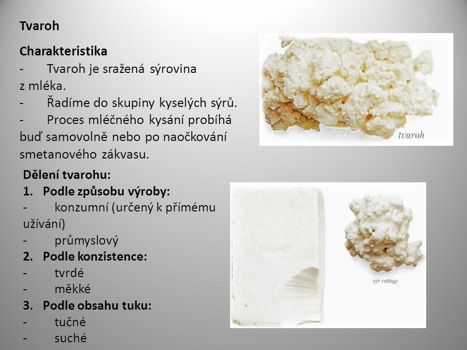 Tvaroh Charakteristika - Tvaroh je sražená sýrovina z mléka.