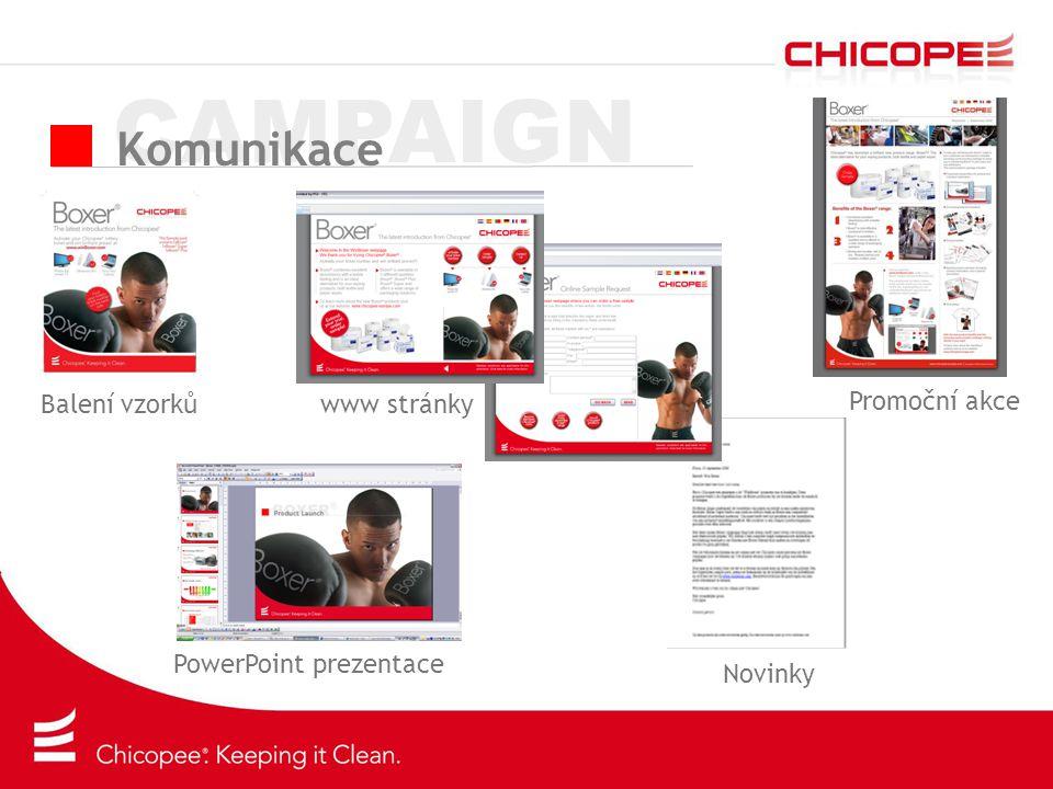 CAMPAIGN Komunikace Balení vzorků Promoční akce Novinky www stránky PowerPoint prezentace