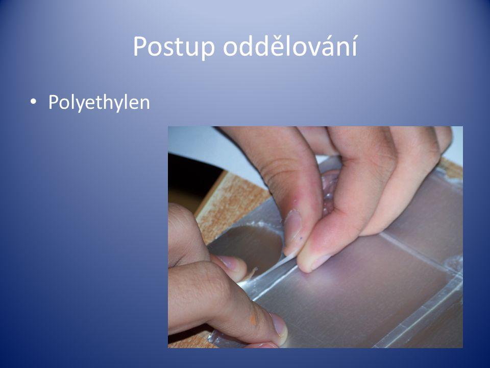 Postup oddělování Polyethylen