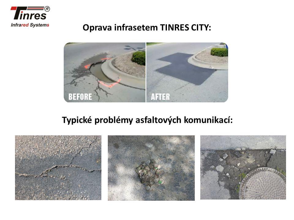 Oprava infrasetem TINRES CITY: Typické problémy asfaltových komunikací: