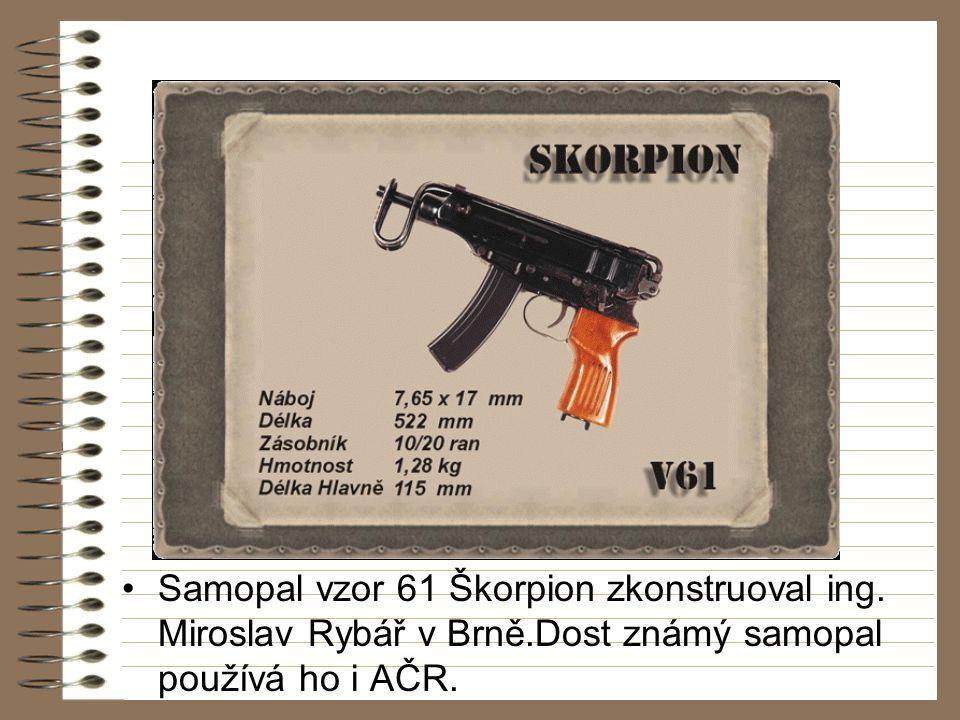 Samopal vzor 61 Škorpion zkonstruoval ing.