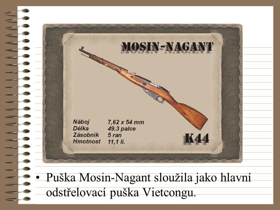 Puška Mosin-Nagant sloužila jako hlavní odstřelovací puška Vietcongu.