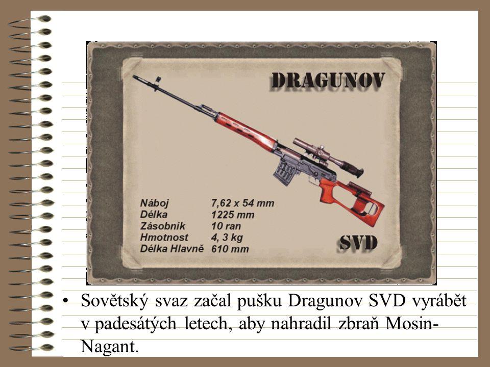 Sovětský svaz začal pušku Dragunov SVD vyrábět v padesátých letech, aby nahradil zbraň Mosin- Nagant.