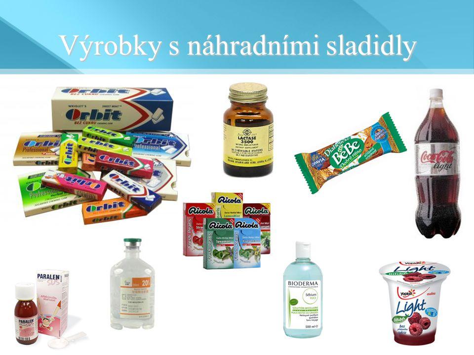 Výrobky s náhradními sladidly