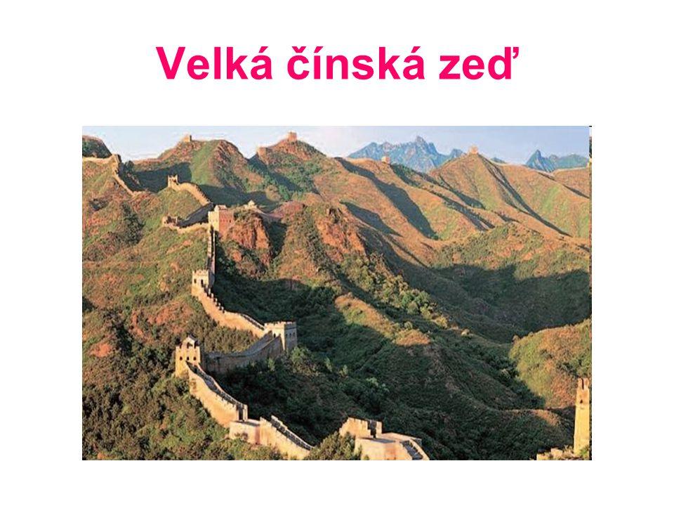 OBSAH Základní údaje Velké čínské zdi Zajímavosti Mapa trasy Význam Stavba Pevnost Jiayuguan Zdroje