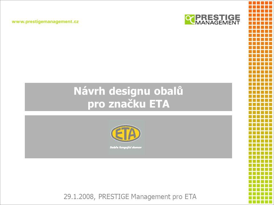 OBSAH PREZENTACE I.Aktuální situace II. Analýza pozice značky ETA III.
