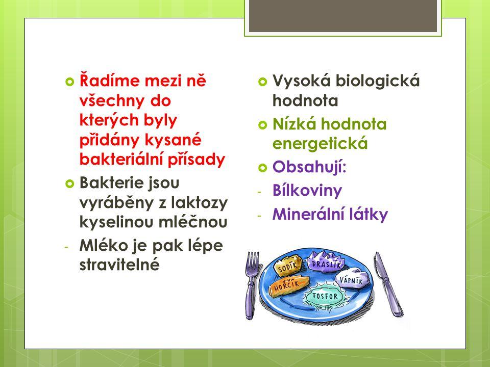 Výživa 2.S  Zakysané výrobky