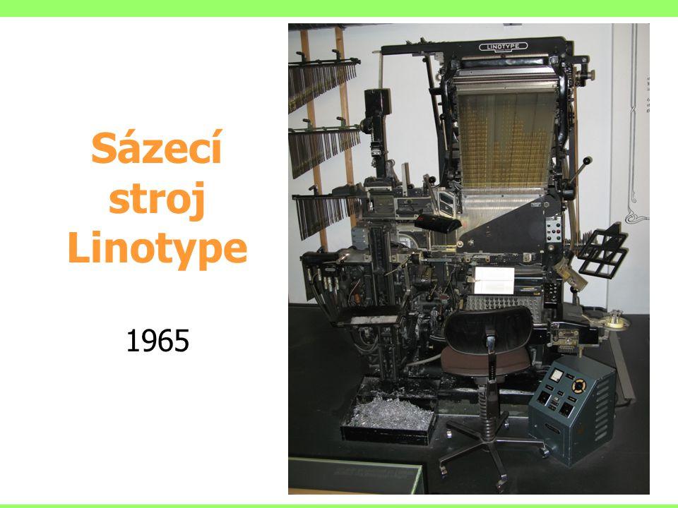Sázecí stroj Linotype 1965