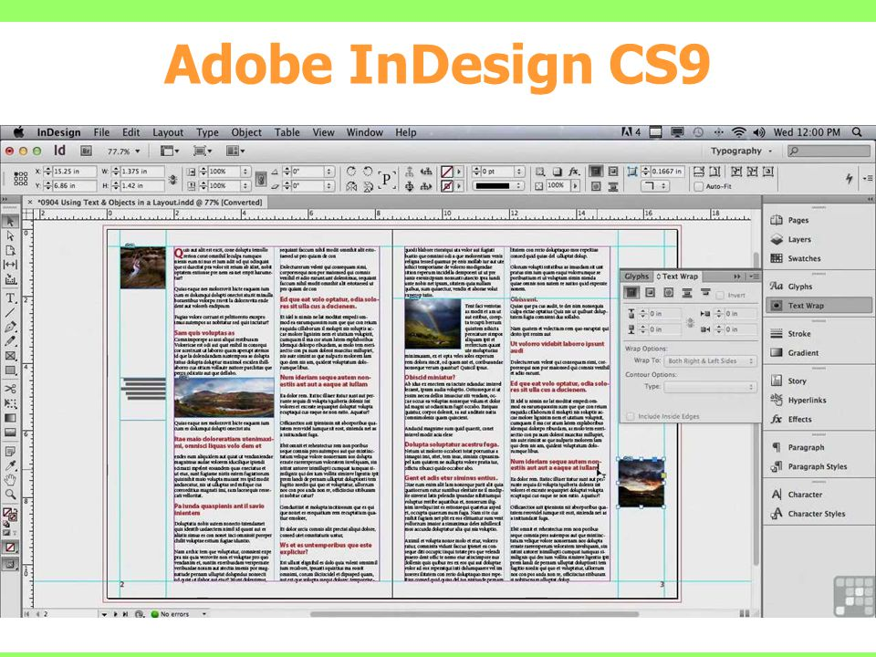 Adobe InDesign CS9