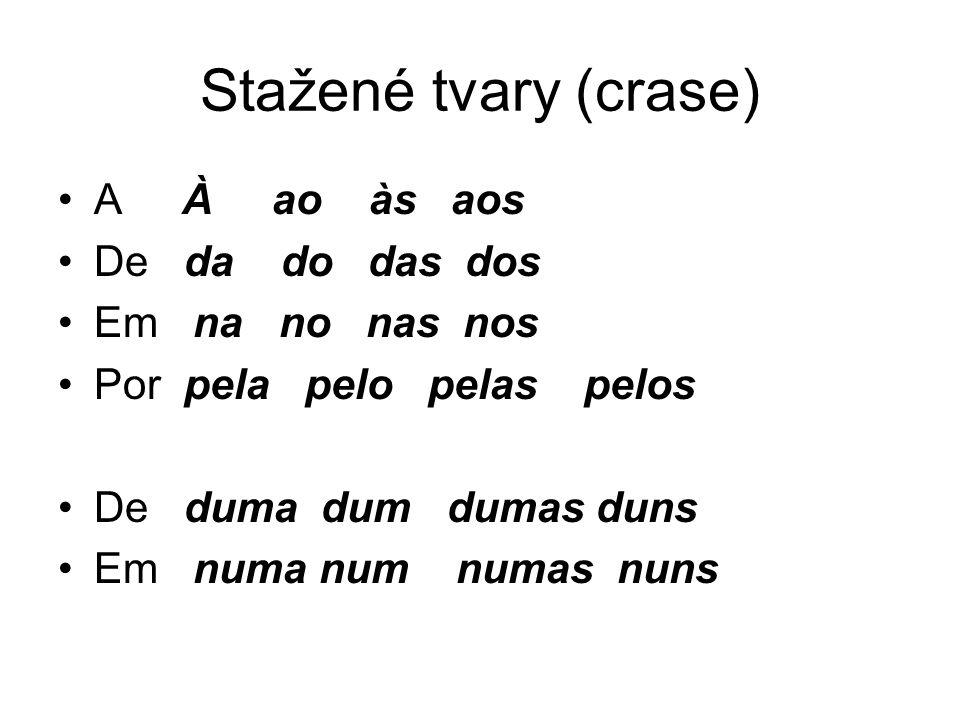 Syntakticky relevantní d)někdy je také syntakticky relevantní: Falámos em terça-feira.