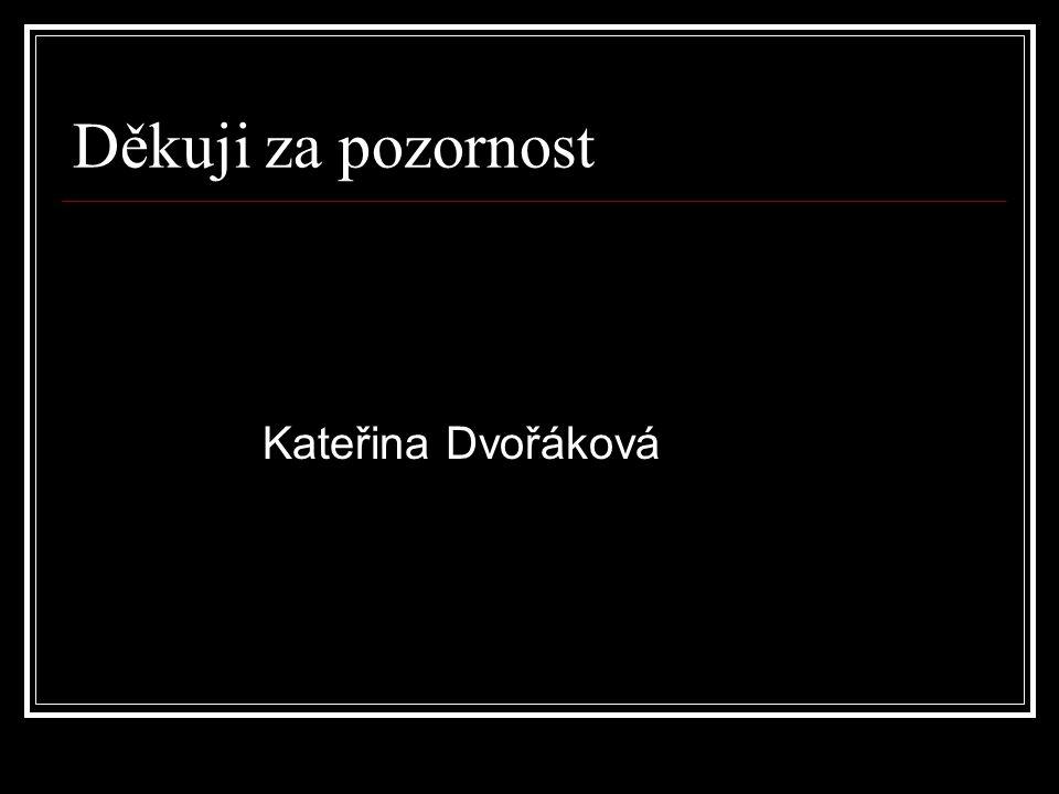Děkuji za pozornost Kateřina Dvořáková
