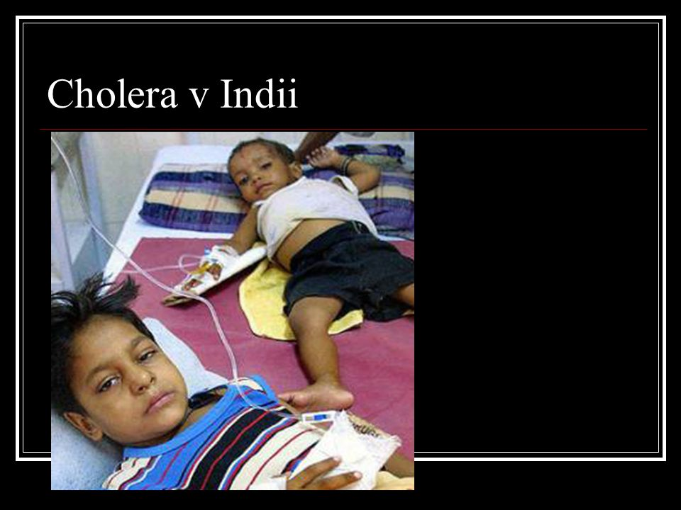 Cholera v Indii