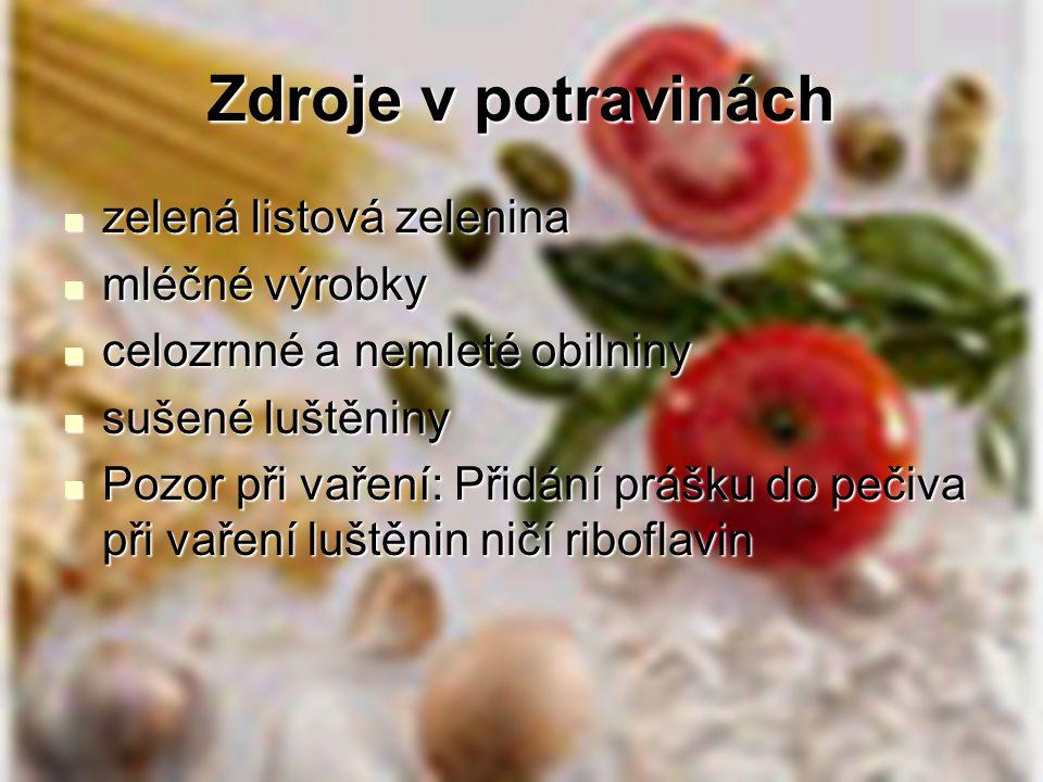 Zdroje v potravinách zelená listová zelenina zelená listová zelenina mléčné výrobky mléčné výrobky celozrnné a nemleté obilniny celozrnné a nemleté ob