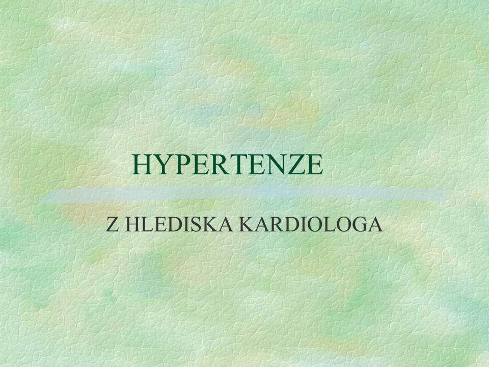 Esentiální/primární/hypertenze- etiologie §genetické vlivy-familiární výskyt §nadměrný přívod NaCl -nad 6g/den §nedostatečný přívod K,Ca,Mg §obesita-BMI nad 30,abdominální distribuce tuku,metabol.syndrom- inzul.resistence,hyperinsulinemie,porucha gluk.tolerance,dyslipidemie