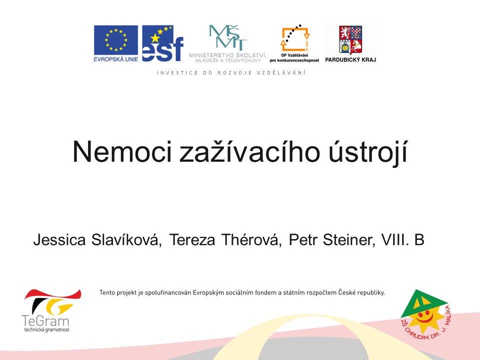 Nemoci zažívacího ústrojí Jessica Slavíková, Tereza Thérová, Petr Steiner, VIII. B