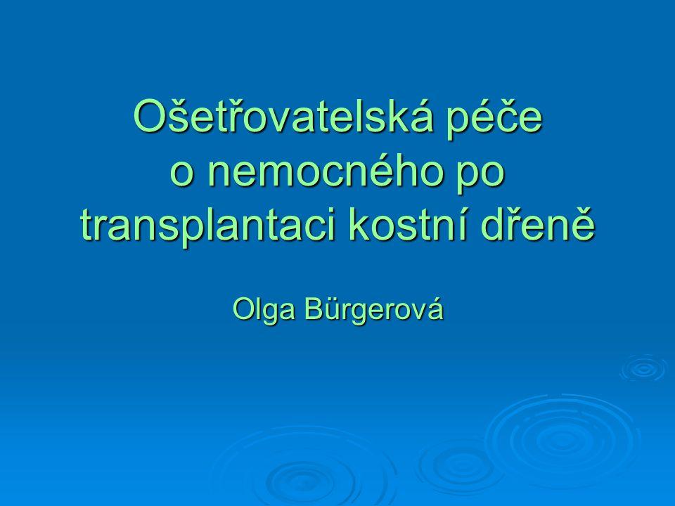 Ošetřovatelská péče o nemocného po transplantaci kostní dřeně Olga Bürgerová