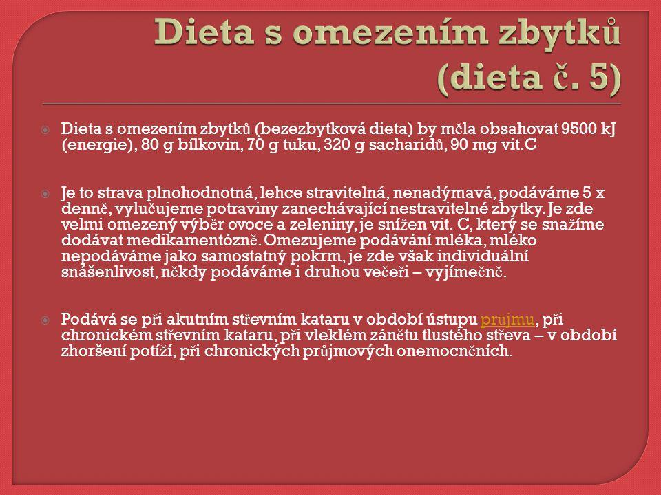 Základem ledvinové diety je sní ž it bílkoviny na polovinu b ěž né dávky.