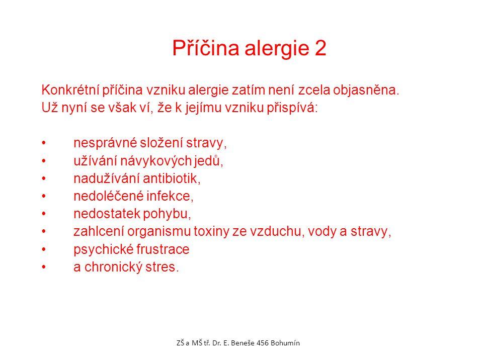 Konkrétní příčina vzniku alergie zatím není zcela objasněna.