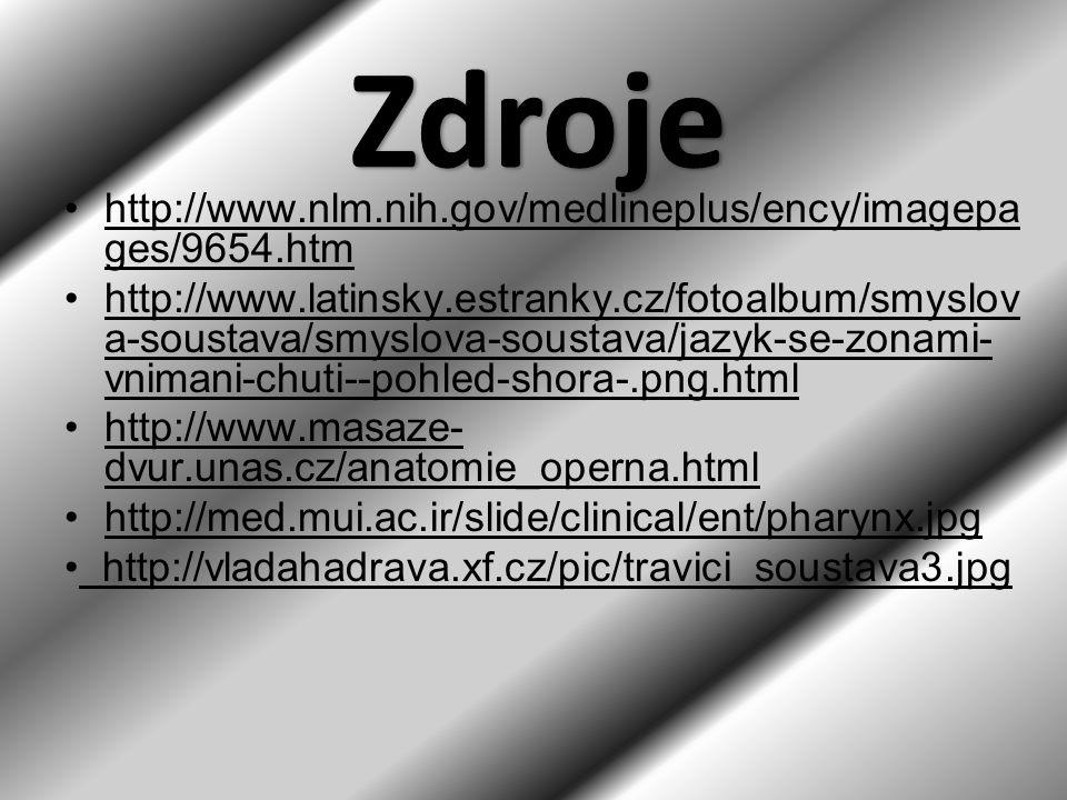 http://www.nlm.nih.gov/medlineplus/ency/imagepa ges/9654.htm http://www.latinsky.estranky.cz/fotoalbum/smyslov a-soustava/smyslova-soustava/jazyk-se-z