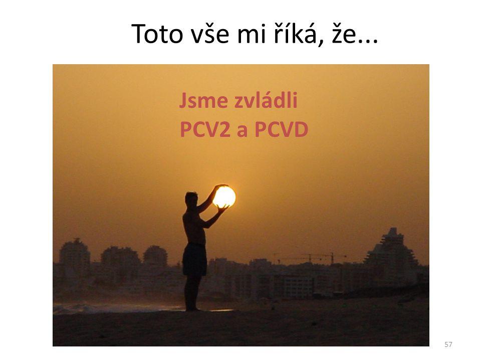 Toto vše mi říká, že... Jsme zvládli PCV2 a PCVD 57