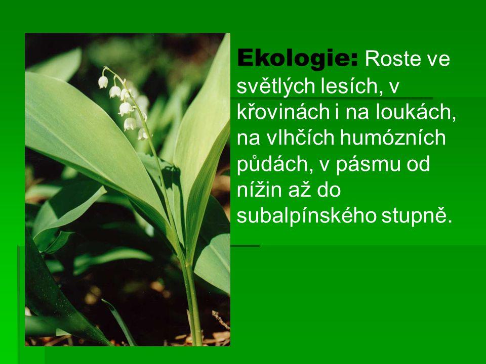 Ekologie: Roste ve světlých lesích, v křovinách i na loukách, na vlhčích humózních půdách, v pásmu od nížin až do subalpínského stupně.