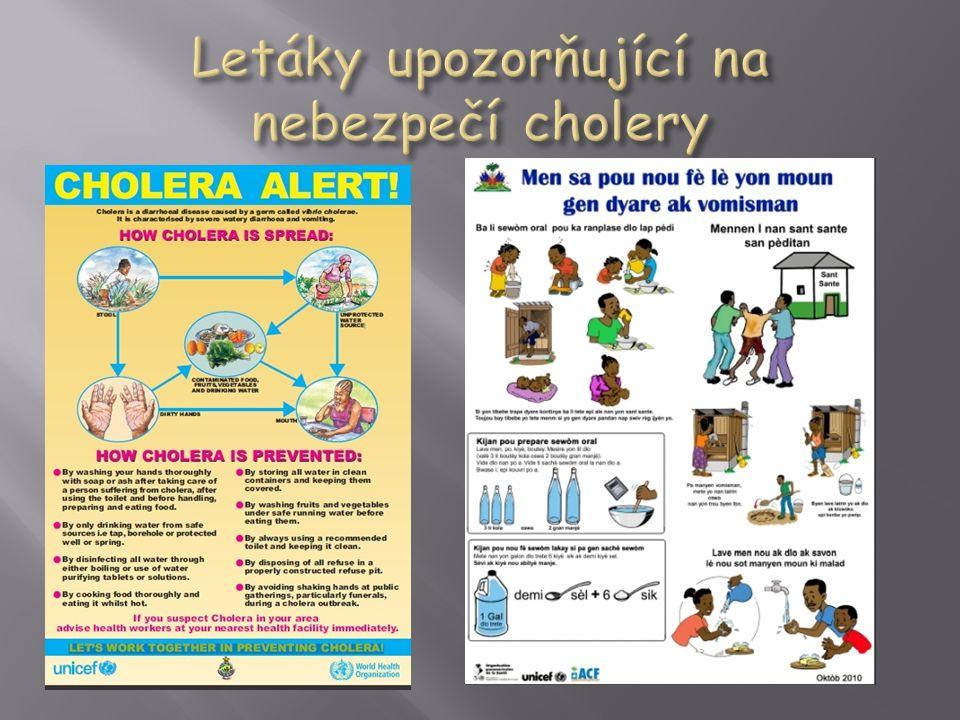 """ cholera se obvykle objevuje v rozvojových zemích, kde chybí sanitární infrastruktura, hygiena je nedostatečná a je nedostatek zdrojů nezávadné vody  právě v těchto zemích je nebezpečná z důvodu nedostatečné lékařské péče  kvůli špatným hygienickým podmínkám se však v chudých zemích onemocnění snadno šíří a vybírá si daň v podobě lidských životů  v endemických oblastech cholera nejčastěji postihuje děti ve věku 2-4 let  jinde naopak je nemocnost cholerou ve všech věkových skupinách stejná  zpravidla však jsou prvními nemocnými, následkem expozice kontaminovaným potravinám a vodě, dospělí muži  výskyt cholery má výraznou sezonalitu (v Bangladéši, kde je výskyt cholery endemický jsou každý rok dva vrcholy výskytu, odpovídající teplým obdobím před a po monzunových deštích, v Peru se epidemie cholery dostavují pouze v teplém období roku)  ve vyspělejších státech se cholera obvykle šíří kontaminovanými potravinami (zvláště tepelně neopracovanými """"dary moře ), kdežto v méně vyspělých zemích je častější přenos kontaminovanou vodou"""