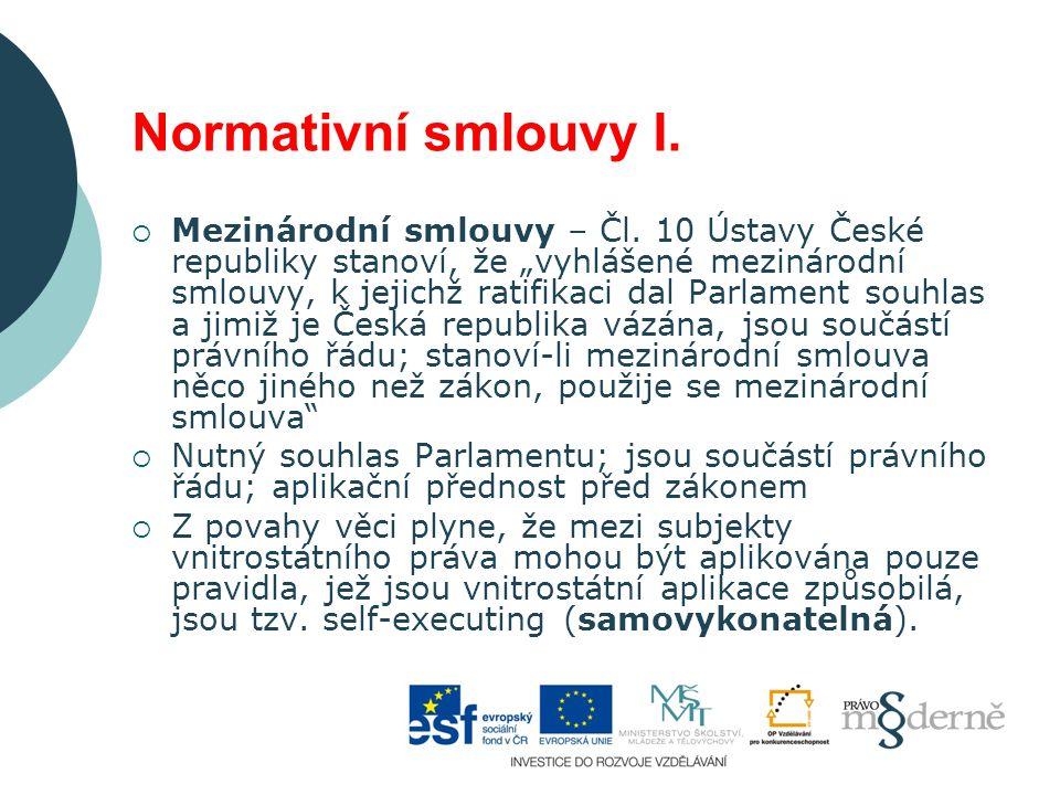 Normativní smlouvy II.