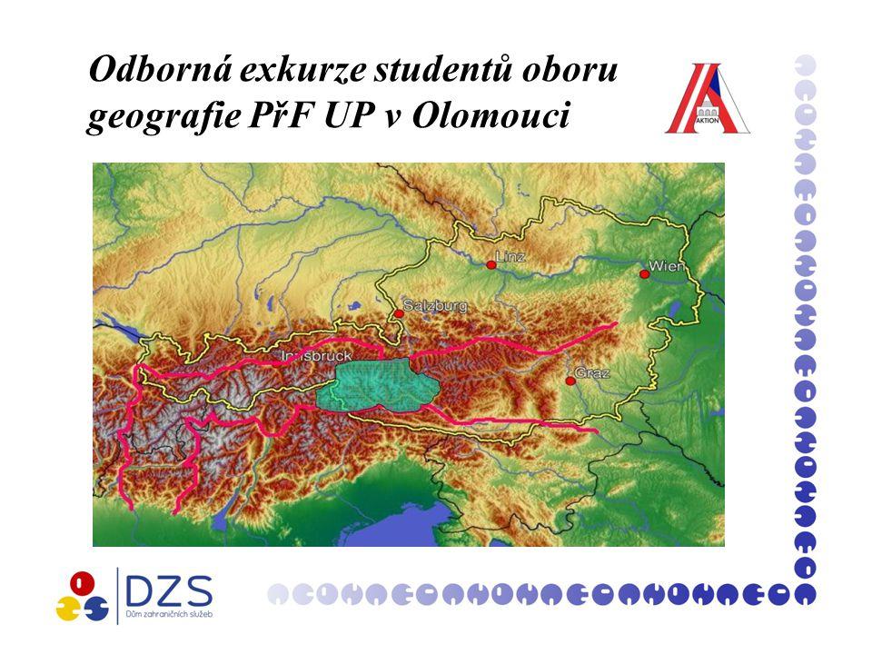 Odborná exkurze studentů oboru geografie PřF UP v Olomouci