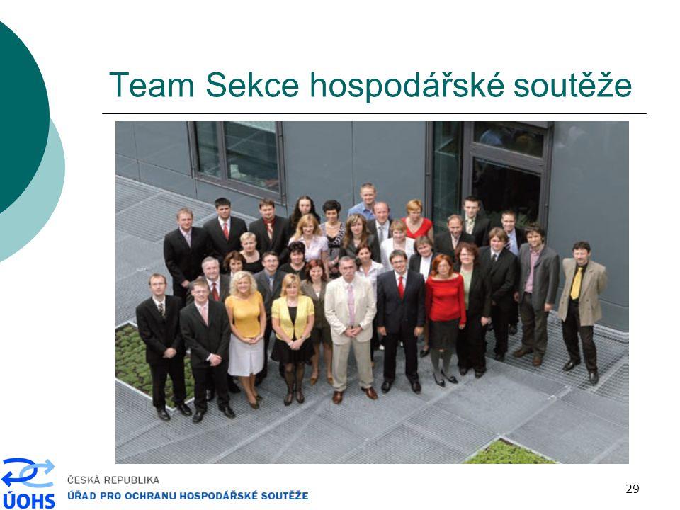 29 Team Sekce hospodářské soutěže
