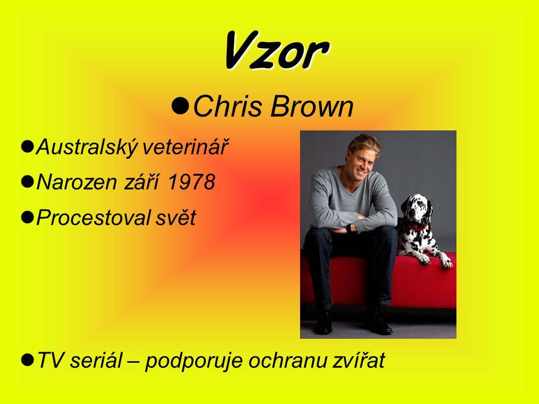 Vzor Chris Brown Australský veterinář Narozen září 1978 Procestoval svět TV seriál – podporuje ochranu zvířat