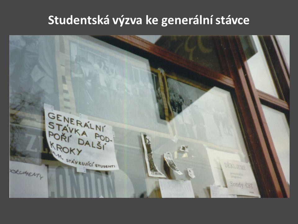 Studentská výzva ke generální stávce