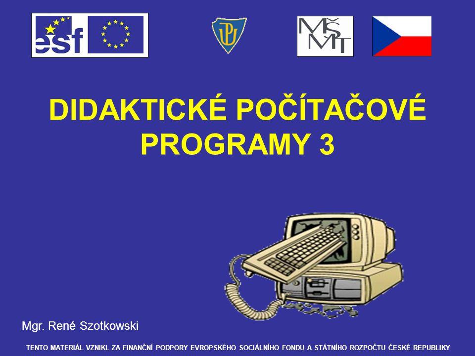Demonstrace procvičovacích didaktických programů Český jazyk I – PRAVOPIS –Jedná se o inovovanou verzi asi vůbec nejprodávanějšího výukového programu v naší republice.