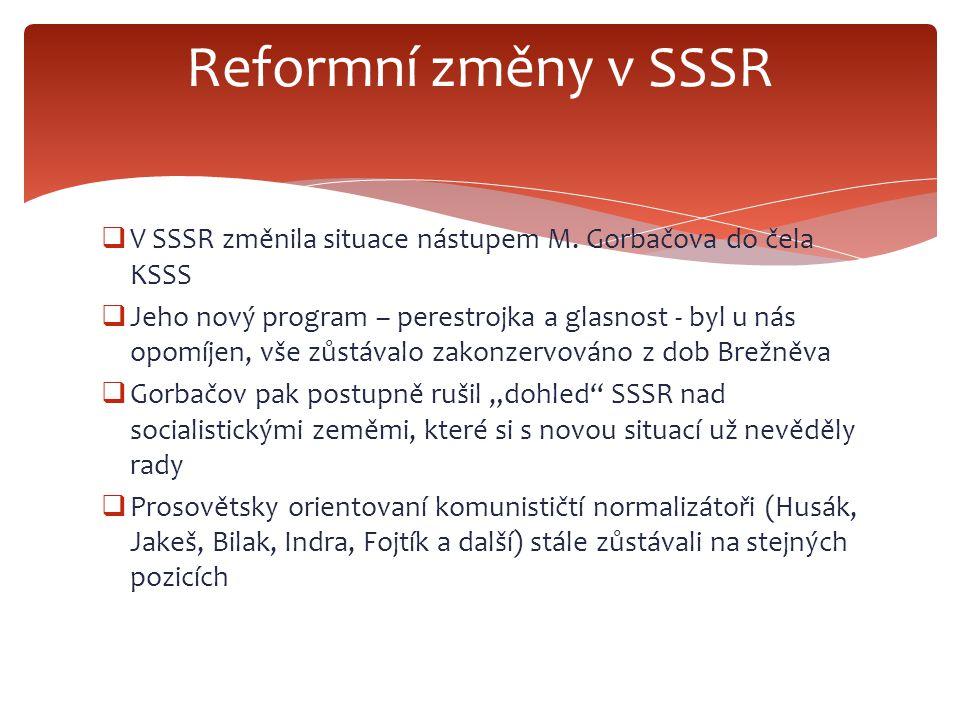  V SSSR změnila situace nástupem M.