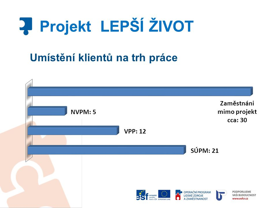 Umístění klientů na trh práce Projekt LEPŠÍ ŽIVOT