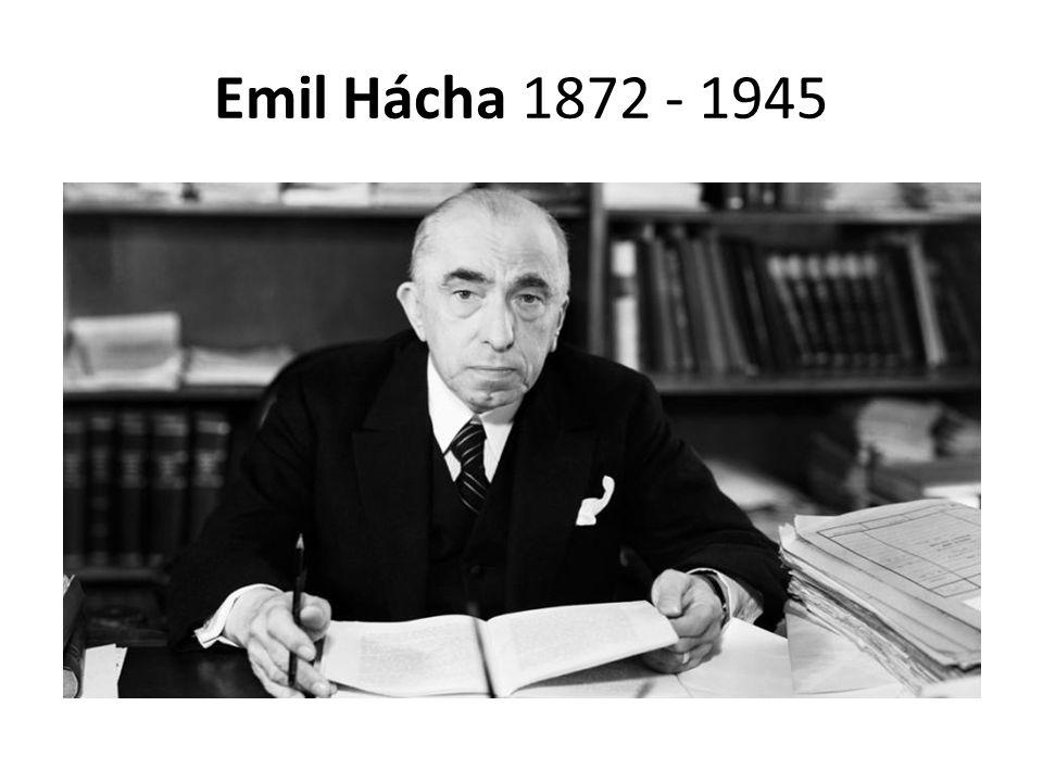 Emil Hácha 1872 - 1945