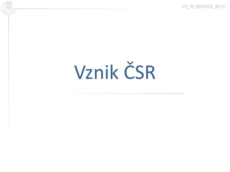 Vznik ČSR VY_32_INOVACE_25-10