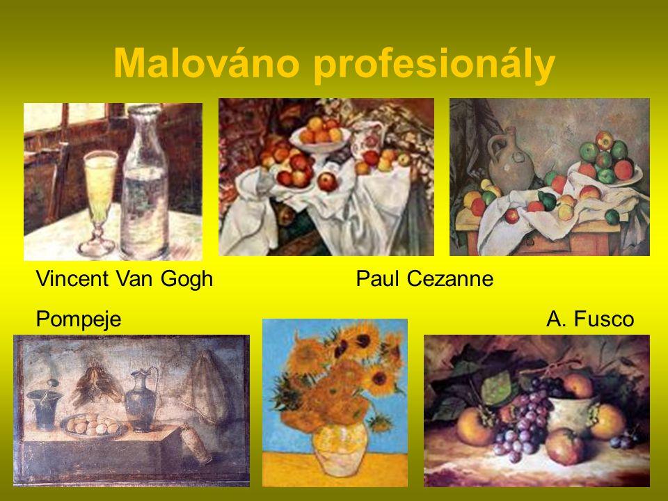 Malováno profesionály Vincent Van Gogh Paul Cezanne Pompeje A. Fusco