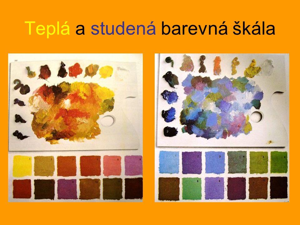 Teplá a studená barevná škála