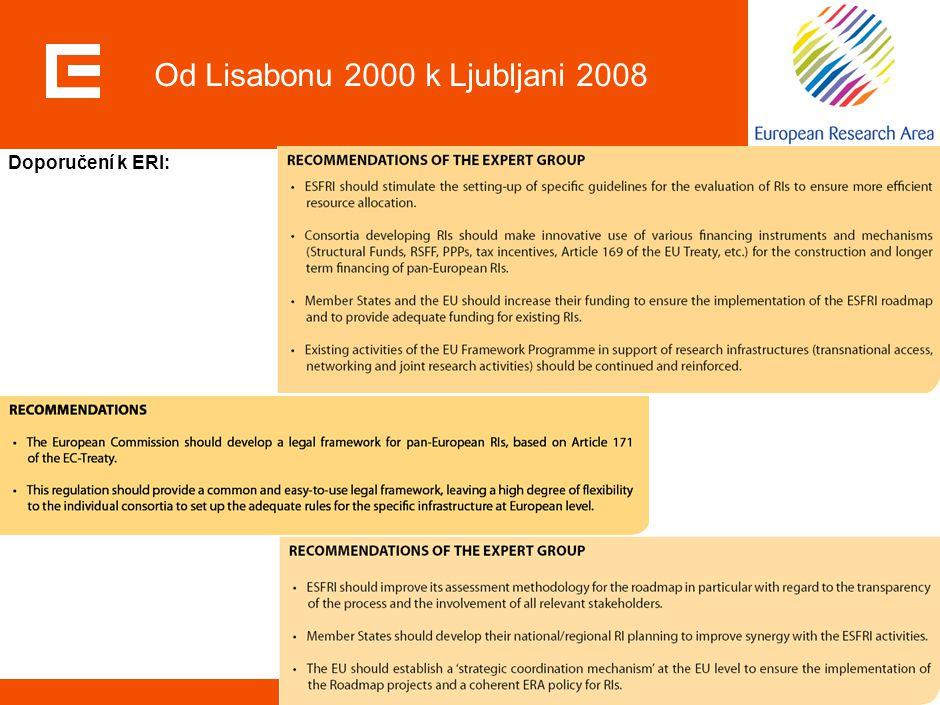 26 Od Lisabonu 2000 k Ljubljani 2008 Doporučení k ERI: