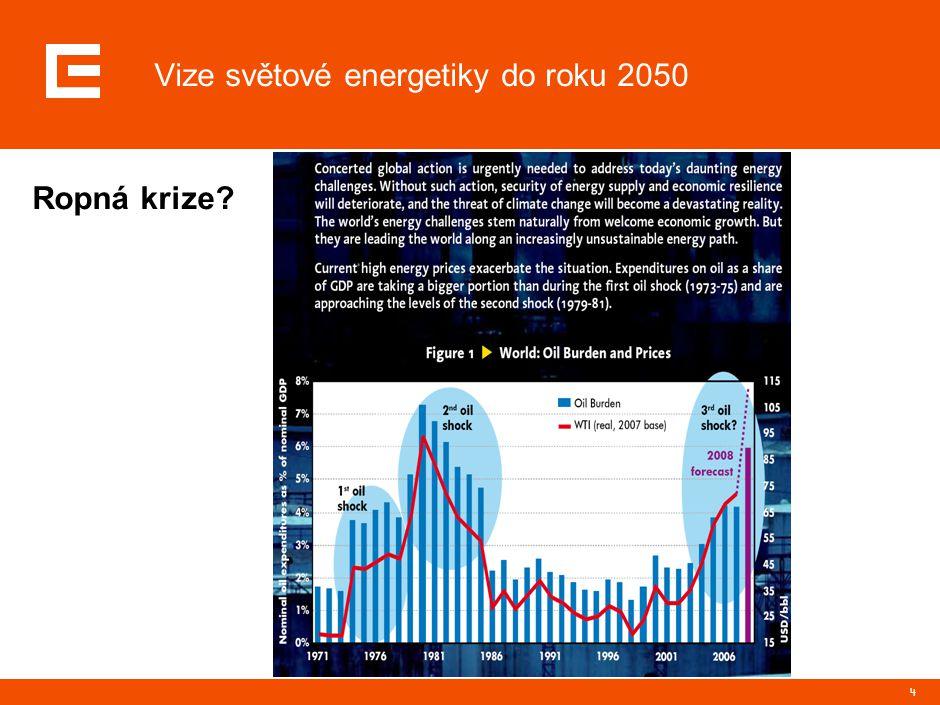 4 Ropná krize Vize světové energetiky do roku 2050