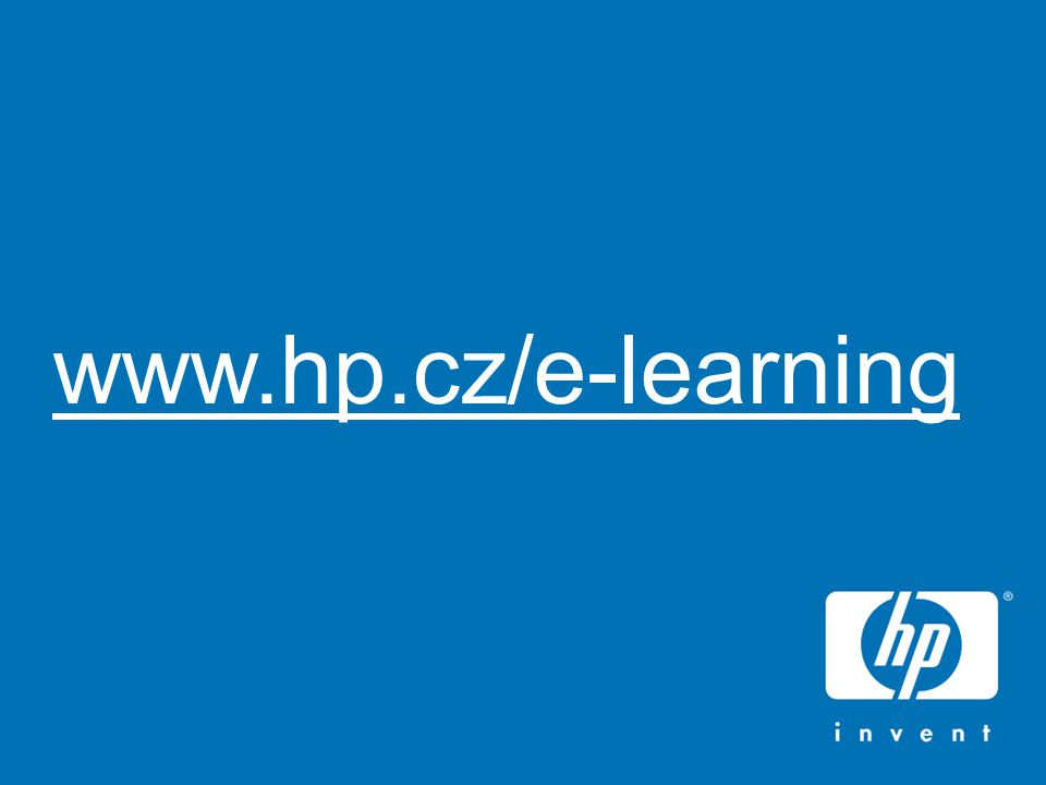 HP Virtual Classroom26 www.hp.cz/e-learning